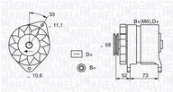 Generator/alternator MAGNETI MARELLI 063321154010