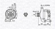 Generator/alternator MAGNETI MARELLI 063377417010