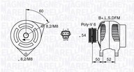 Generator/alternator MAGNETI MARELLI 063377419010