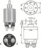 Solenoid, electromotor MAGNETI MARELLI 940113050237