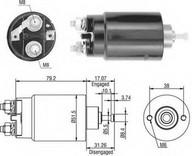Solenoid, electromotor MAGNETI MARELLI 940113050403