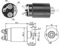 Solenoid, electromotor MAGNETI MARELLI 940113050405