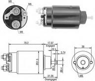 Solenoid, electromotor MAGNETI MARELLI 940113050446